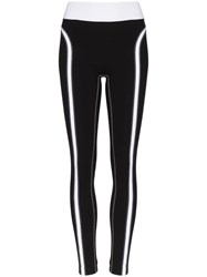 No Ka' Oi Contrast Detail Leggings Black