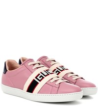 Gucci Ace Leather Sneakers Pink