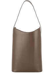 Building Block Wave Tote Brown