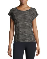 The Balance Collection Kimmy Burnout Performance Tee Black