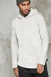 Forever 21 Marled Hooded Sweater Heather Grey