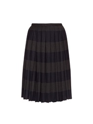 Marco De Vincenzo Pleated Stripe Midi Skirt