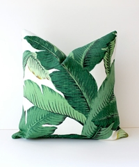 Modern Tropical Green Designer Pillow Cover 18 X By Whitlockandco