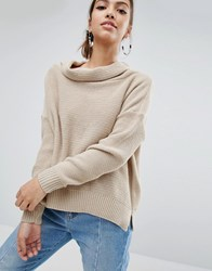 Daisy Street Oversized Cowl Neck Jumper Cream