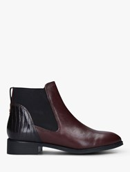 Carvela Stifle Leather Chelsea Boots Wine