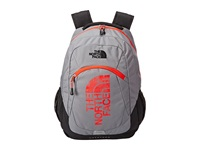 The North Face Haystack Zinc Grey Fiery Red Backpack Bags Gray
