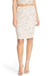 Women's Adrianna Papell Embellished Mesh Pencil Skirt