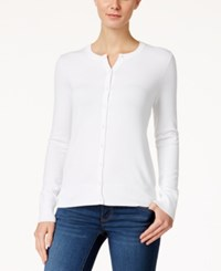 Charter Club Crew Neck Cardigan Only At Macy's Bright White
