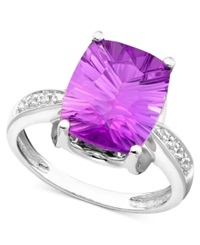 Macy's 14K White Gold Ring Amethyst 5 1 6 Ct. T.W. And Diamond Accent