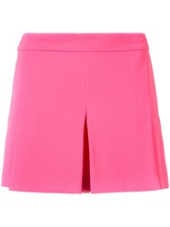 Trina Turk Pleat Front Shorts Women Polyester 4 Pink Purple