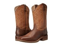 Dan Post Lindberg Dark Brown Saddle Tan Cowboy Boots