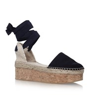 Carvela Kupcake High Wedge Heel Sandals Navy