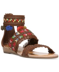 Carlos By Carlos Santana Tangier Three Piece Pom Pom Sandals Women's Shoes Mustang