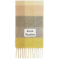 Acne Studios Yellow And Grey Valley Scarf