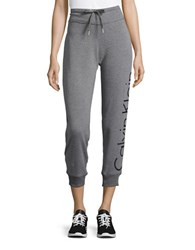 Calvin Klein Drawstring Cropped Sweatpants Grey