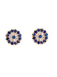 Melissa Odabash Rose Gold Evil Eye Crystal Stud Earrings N A N A