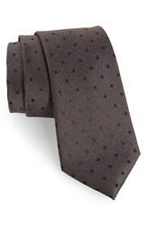 Calibrate Men's Modern Dot Woven Tie Taupe