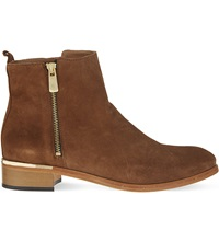 Kurt Geiger Dansey Suede Ankle Boots Tan