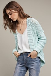 Anthropologie Classic High Low Cardigan Mint