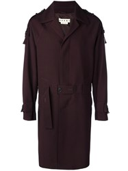 Marni Single Breasted Trenchcoat Pink Purple