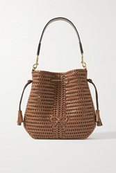 Anya Hindmarch Neeson Hobo Woven Leather Shoulder Bag Light Brown