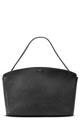 Shinola Curved Latigo Leather Satchel Black
