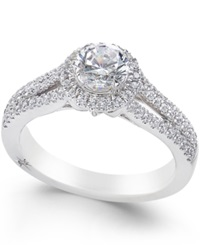 Marchesa Diamond Halo Ring 1 Ct. T.W. In 18K White Gold
