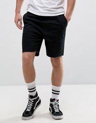 Brixton Chino Shorts With Raw Hem Black