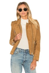 Doma Chest Pocket Biker Jacket Tan