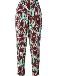 Kenzo 'Torn Flowers' Trousers Multicolour