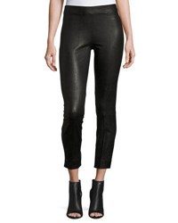 Vince Seamed Leather Leggings Black