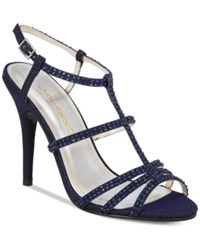 Caparros Groovy Embellished Evening Sandals Women's Shoes Navy Glimmer