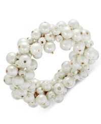 Charter Club Gold Tone Imitation Pearl Cluster Bracelet Only At Macy's
