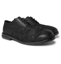 Marsell Burnished Suede Derby Shoes Black