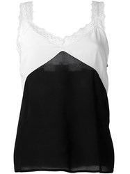 Paul And Joe Lace Trim Tank Top Women Silk Polyester Viscose 1 Black