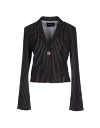 Entre Amis Suits And Jackets Blazers Women Steel Grey