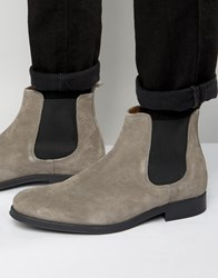 Selected Homme Oliver Suede Chelsea Boot Grey