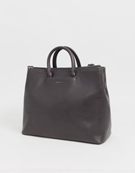 Matt And Nat Structured Tote Bag In Charcoal Grey