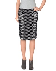 Diane Von Furstenberg Knee Length Skirts Black