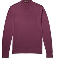 Loro Piana Slim Fit Baby Cashmere Sweater Plum
