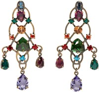 Lanvin Multicolor Rhinestone Earrings