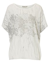Betty And Co. Marble Print Cotton Top Cream