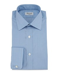 Charvet Micro Check Barrel Cuff Dress Shirt Blue Blue Women's