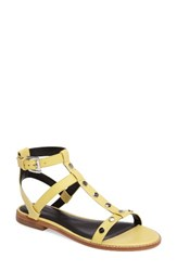 Rebecca Minkoff Women's Sandy Studded T Strap Sandal Optic White