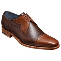 Barker Bakers Apollo Derby Leather Brogues Brown