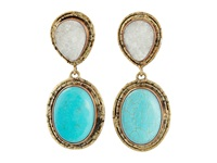 Gypsy Soule Cre36 Turquoise Crystal Earring Black