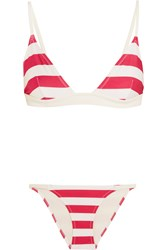 Solid And Striped The Morgan Triangle Bikini Red