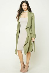 Forever 21 Draped Self Tie Trench Coat