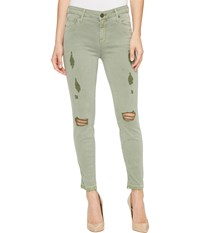 Parker Smith Ava Crop Skinny In Torn Cactus Torn Cactus Women's Jeans Green