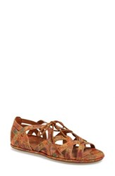 Women's Gentle Souls 'Orly' Lace Up Sandal Natural Floral Cork
